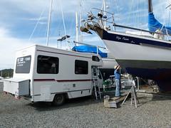 zo, 08/05/2011 - 01:51 - 142. Werken aan de boot, relaxen in de campervan