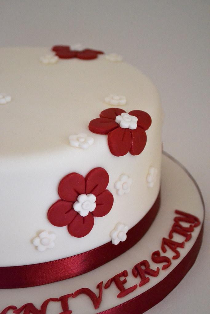 Ruby Wedding Anniversary Cake Ruby Wedding Cake Vanilla