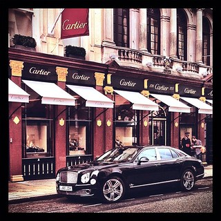 Someone in #Bentley #Mulsanne stopped by at #Cartier flagship store