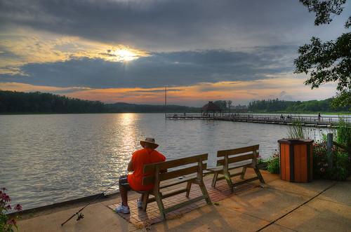 sunset ohio lake nature geotagged fishing nikon raw nef recreation hdr cs5 d3s starkcountyohio sippolakepark nikongp1 photomatixpro4 nikkor24120f4