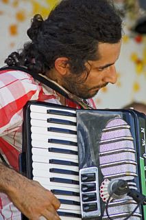 Black Bear Combo Accordian Player