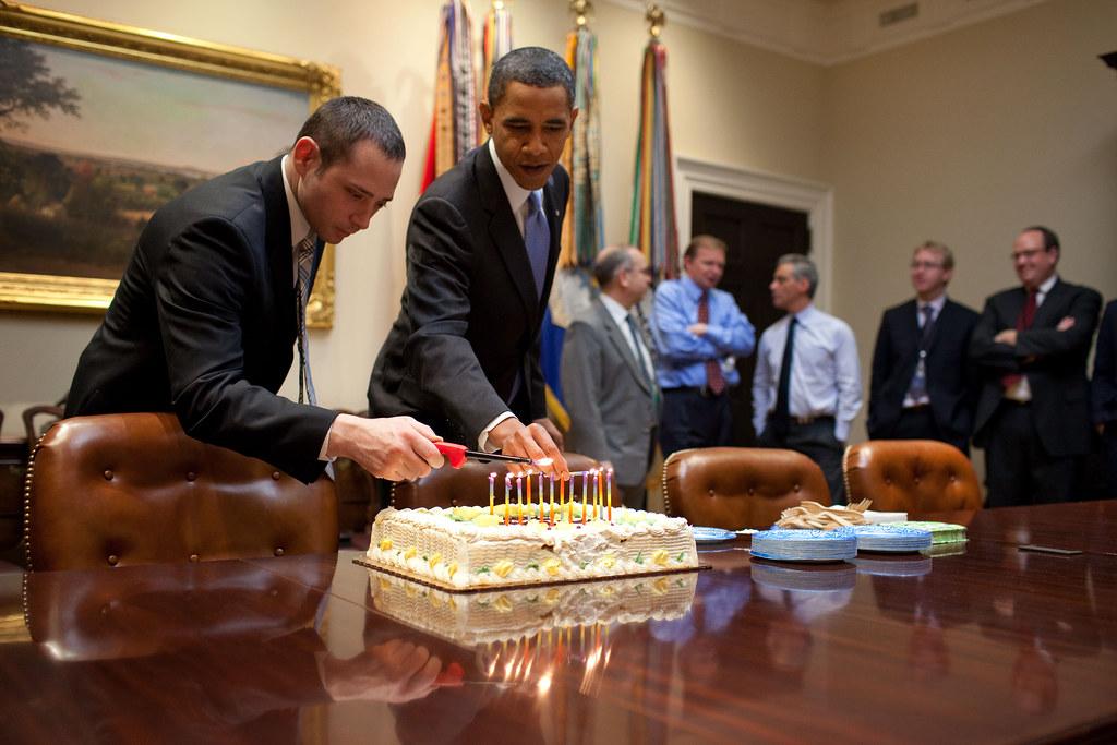 Sensational President Obama Celebrating Birthdays President Barack Oba Flickr Funny Birthday Cards Online Inifodamsfinfo
