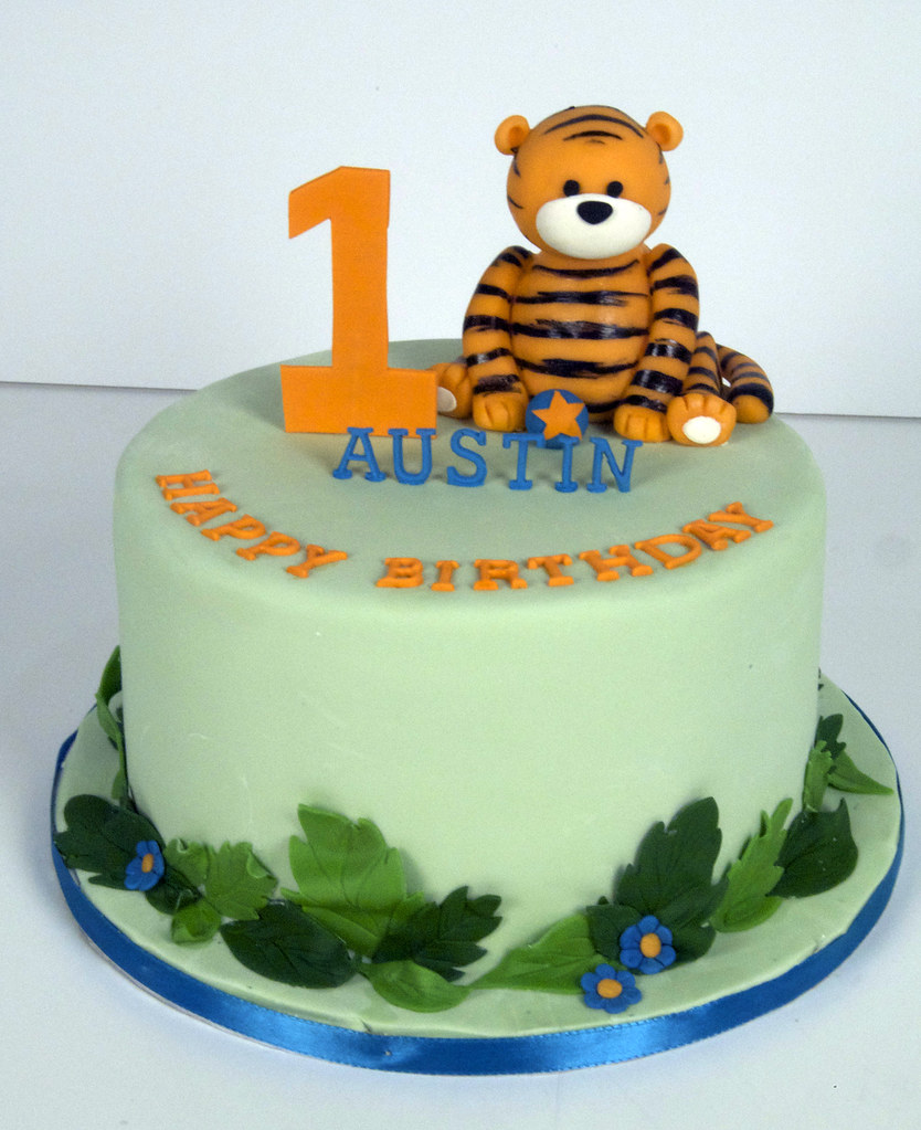 Phenomenal Bc4002 1St Birthday Tiger Cake Toronto A Cute Hand Scul Flickr Personalised Birthday Cards Paralily Jamesorg
