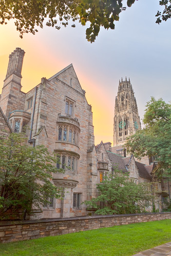 new light sunset usa haven tower campus warm y connecticut yale harkness universit