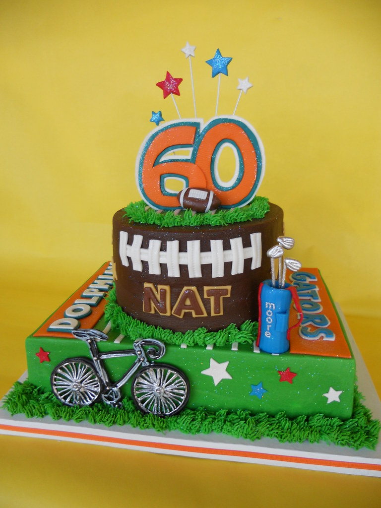 Astounding Miami Dolphin Superstar Nat Moores 60Th Birthday Cake Flickr Personalised Birthday Cards Paralily Jamesorg