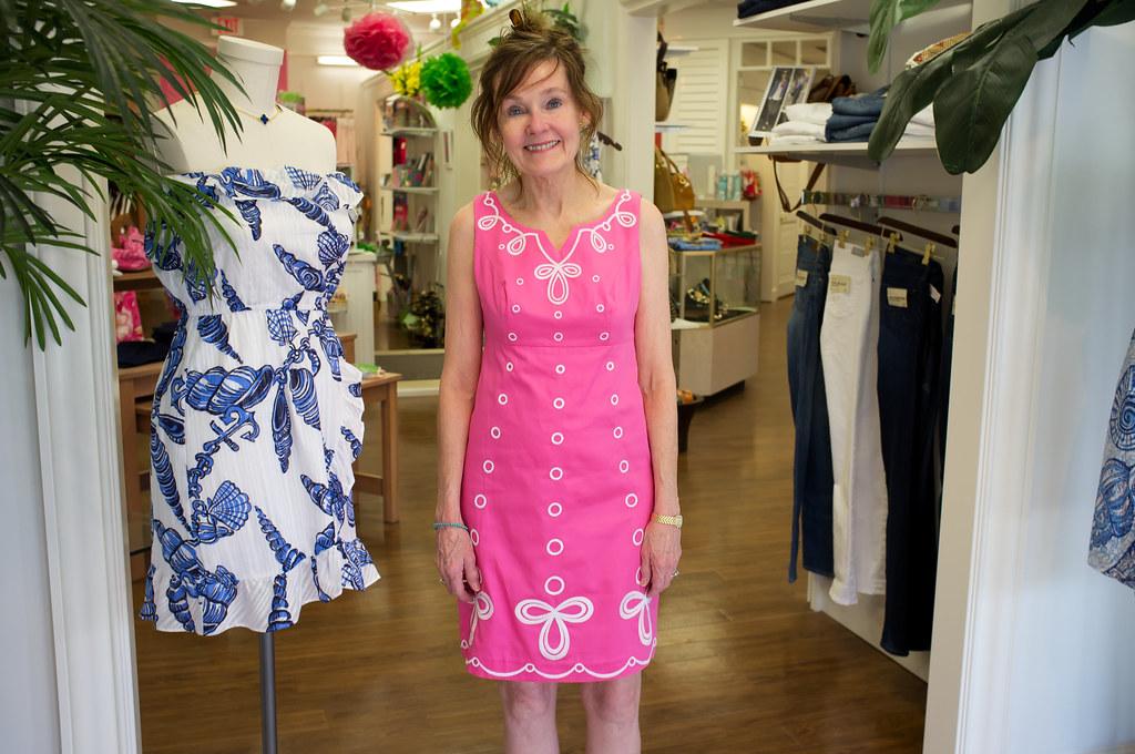 2f9388675f3 Jenny | Jenny trying on Lilly Pulitzer dress at Cloister Col… | Flickr