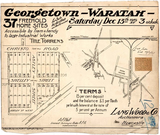M3419 - Georgetown - Waratah Subdivision. Saturday December 13th 1919.