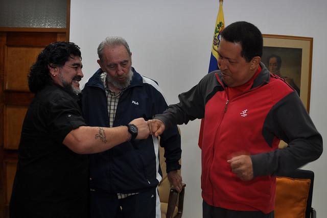El Diego visita a Chávez