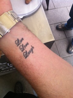 Live Laugh Love Tattoo..dedicated!! | by Cafe Alf Resco