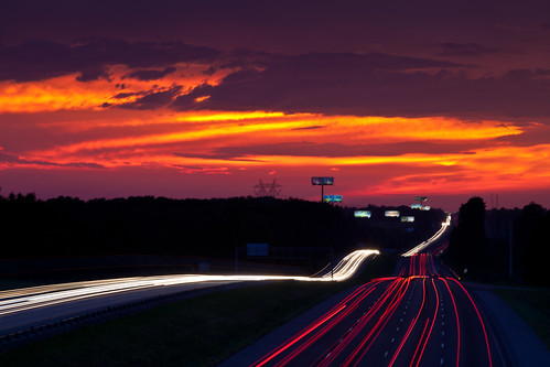 sunset night georgia skyscape lights highway traffic i75 bolingbroke spetacular psunset rumbleroad