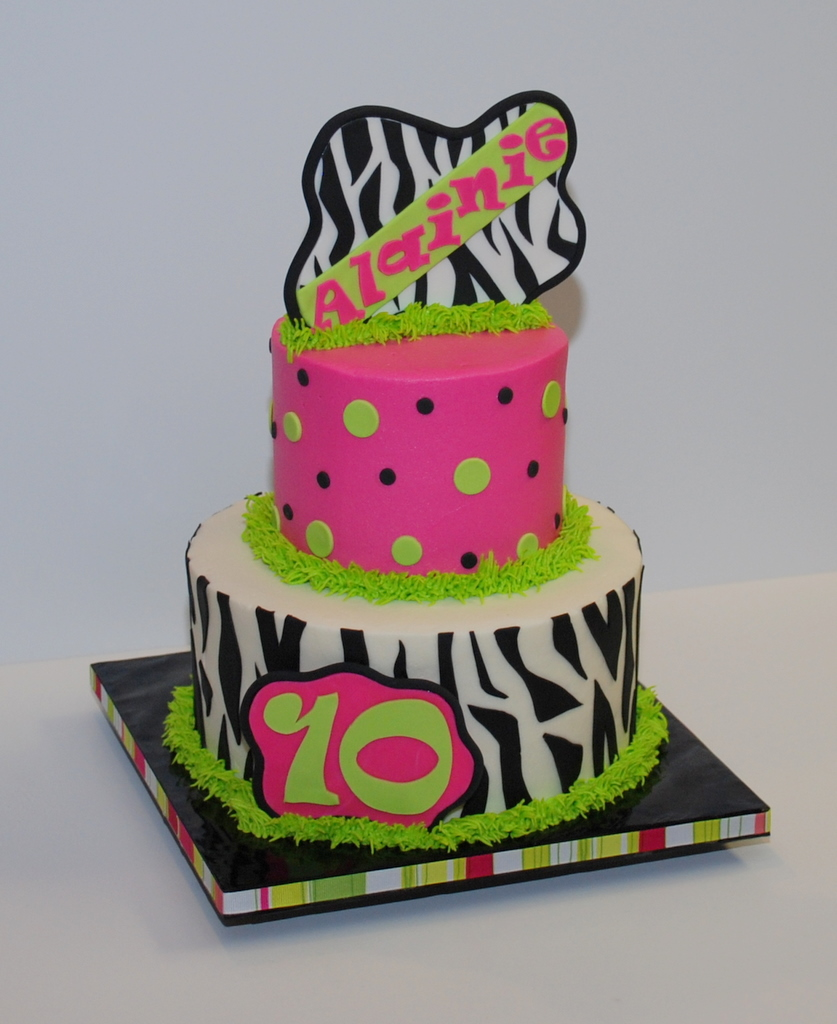Fabulous Zebra Birthday Cake A Photo On Flickriver Funny Birthday Cards Online Alyptdamsfinfo