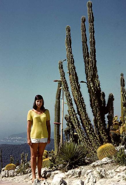 Margaret dans le jardin exotique de Monaco (en 1961)