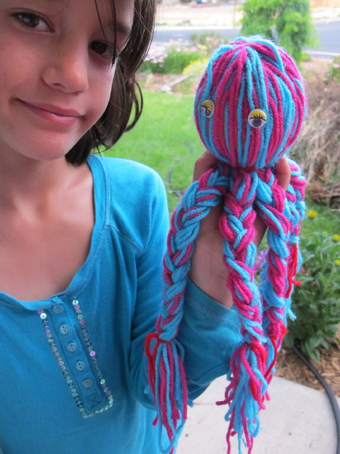 Octopus doll | Exciting Yarn Crafts And Ideas For Your Kids | yarn activities
