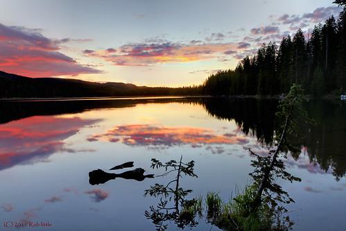 lake sunrise landscape colorado grandmesa islandlakecolorado