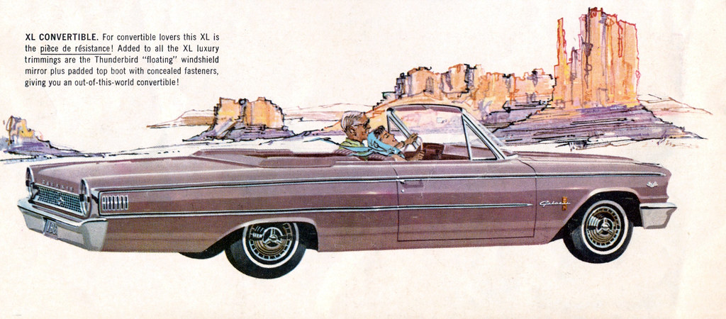 1963 Ford Galaxie 500 XL Convertible - Rose Beige | coconv