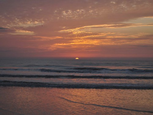 ocean morning sea orange sun sunlight nature water beautiful clouds sunrise movie dawn golden early timelapse video waves atlantic glowing jacksonvilleflorida pontevedrabeach nikkor1855mmvr nikond5000