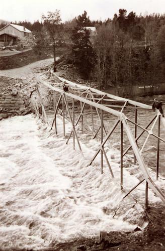 Den sprengte brua ved Storjord i Saltdal