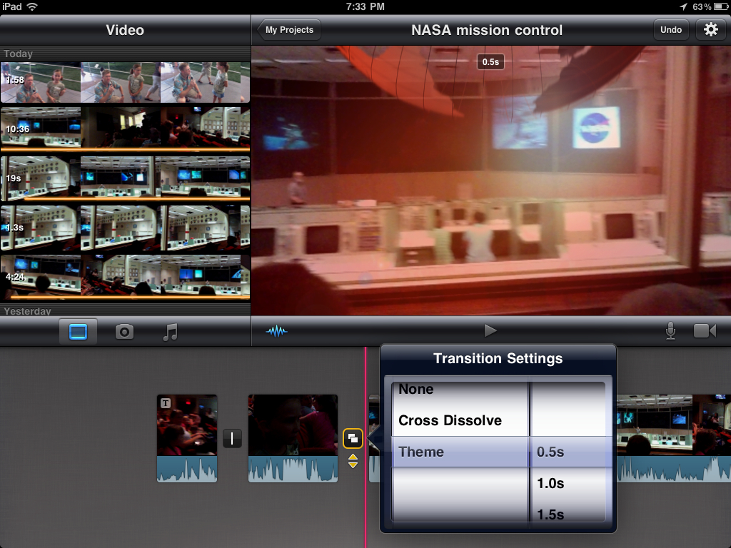 13 (iMovie for iPad) Select Transition Settings | Transition… | Flickr