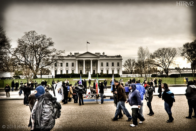 Demonstration at the White House