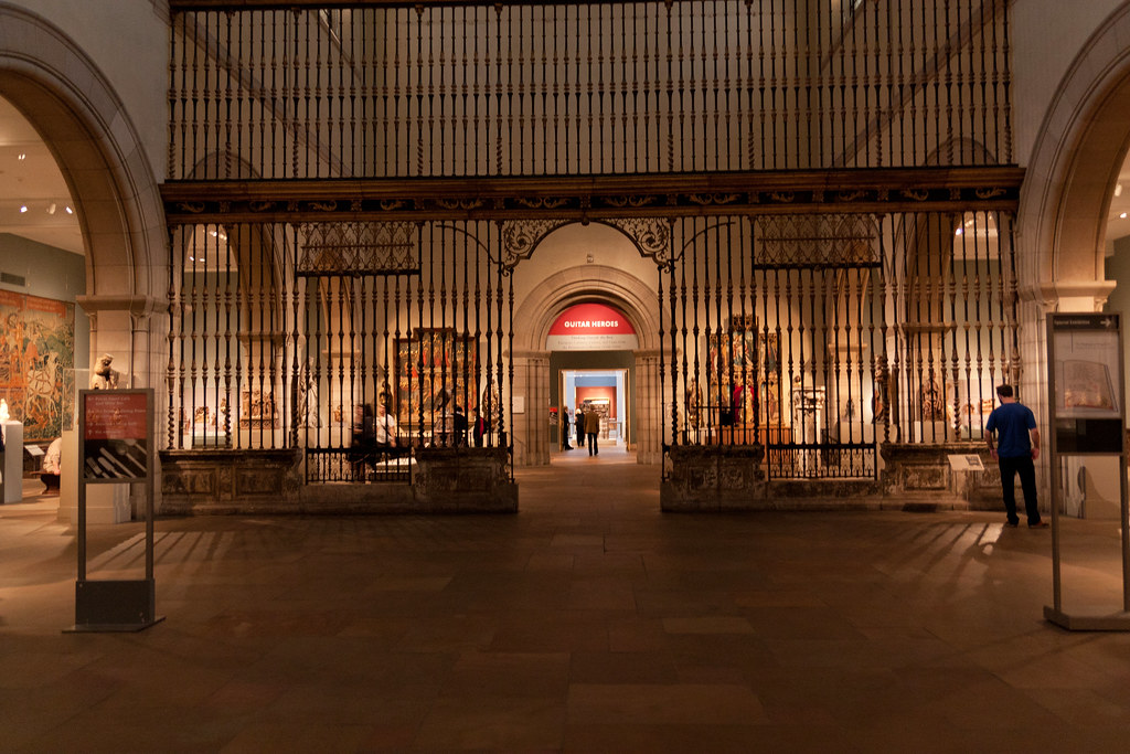 Choir Screen (Reja), completed in 1764 Probably by Rafael Amezúa (Spanish, recorded 1763) Wrought- and cold-chiseled iron, partly gilt; limestone, with traces of paint; 52 x 42 ft. (15.85 x 12.7 m) Gift of The Hearst Foundation, 1956 (56.234.1)