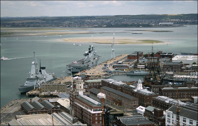 Portsmouth harbour from  the Spinnaker Tower, Portsmouth