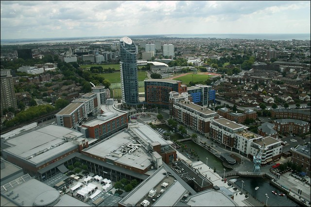 Gunwharf Quays from  the Spinnaker Tower, Portsmouth