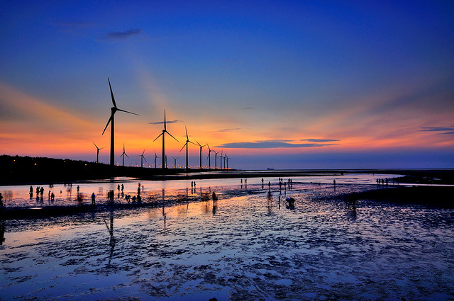 高美暮色 Sunset in Kaomei wetland