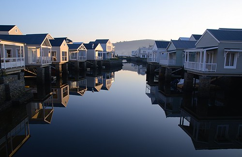 blue reflection water sunrise knysna