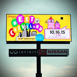 Billboard off 480 east by w130th!! Glad I didn't get reprimanded for lurking in the Infiniti parking lot this morning!! Just had to get a photo of it. Thanks for spotting this @tendrils !! 😄 #cleveland #BestOfCle #cle #thisiscle #clevelandmagazine # | by Karly West