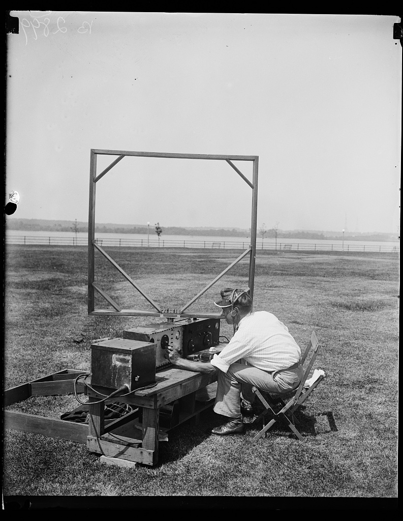 Identified! [Man with radio and antenna] (LOC)