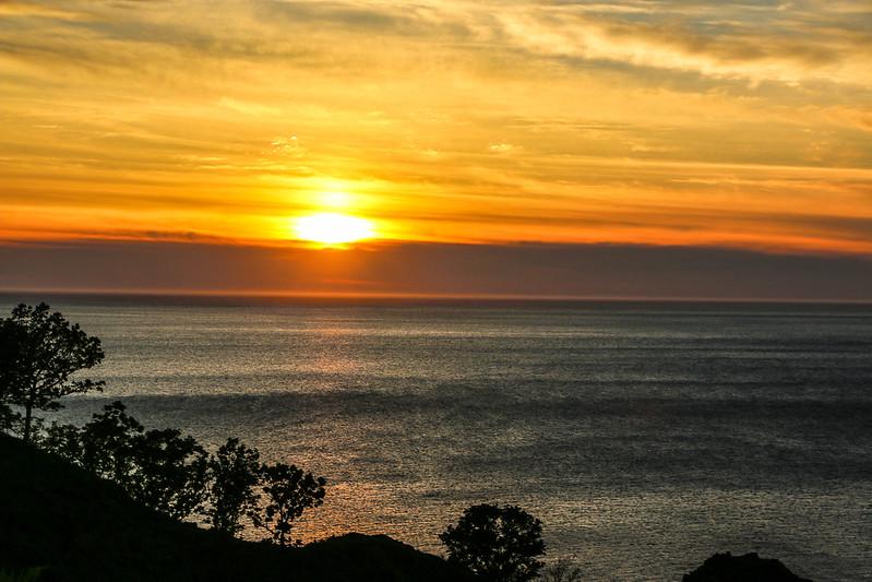 オホーツク海の夕日
