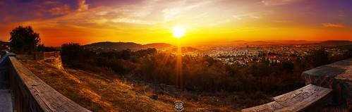 morning autumn panorama orange france color sunrise raw alone wideangle calm serene auvergne starburst leverdesoleil puydedôme clermontferrand orcines blendingexposure parcmontjuzet pierrecarrée canon550d bobandbobphotographie