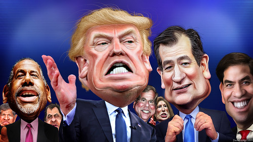Republican Primary Lineup December 2015 | by DonkeyHotey