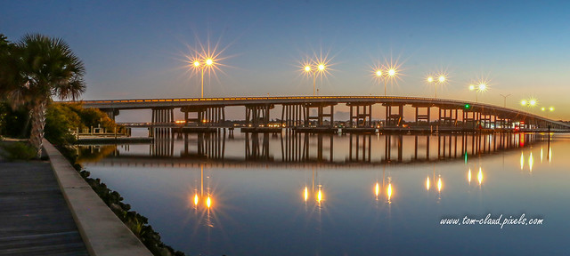 Old Palm City Bridge at Dawn