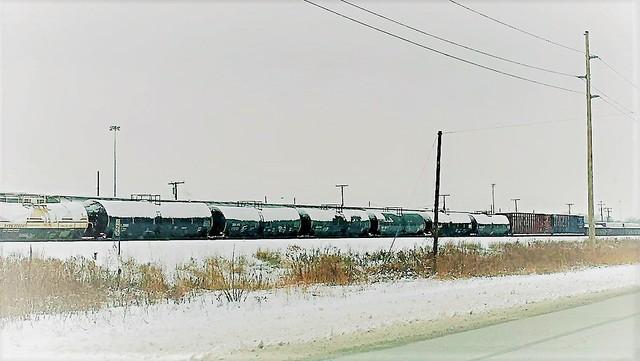 Train Tripping Through the Snow