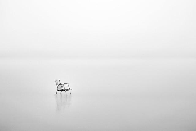 Children chair in the fog