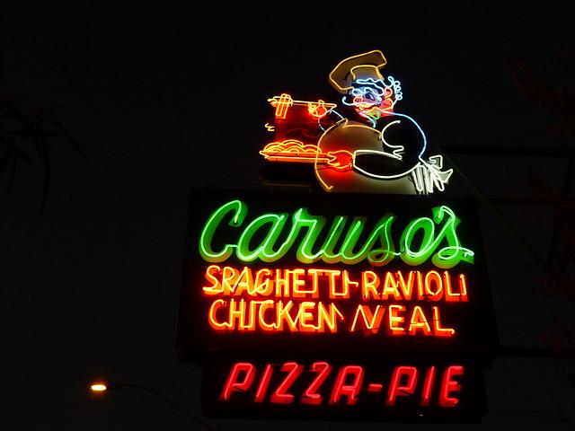 Tucson, AZ Caruso's neon sign