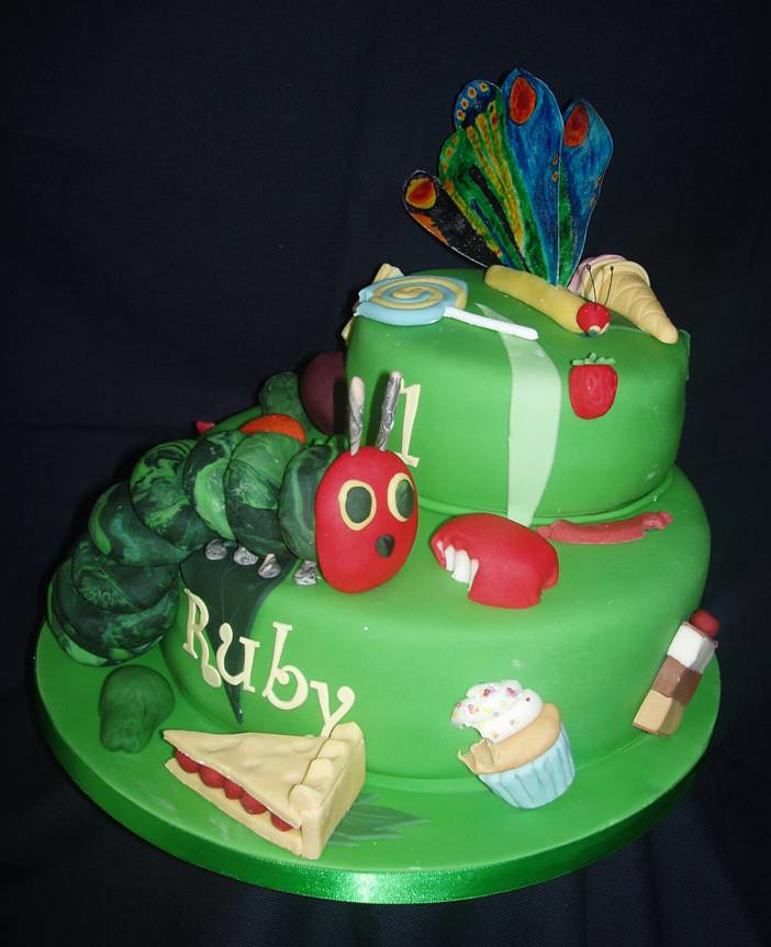 Fine Childrens Birthday Cake Hungry Caterpillar This Is A Side Flickr Personalised Birthday Cards Cominlily Jamesorg