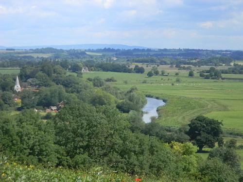 View to Bury church Amberley to Pulborough