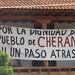 Cherán protest banner por David Agren