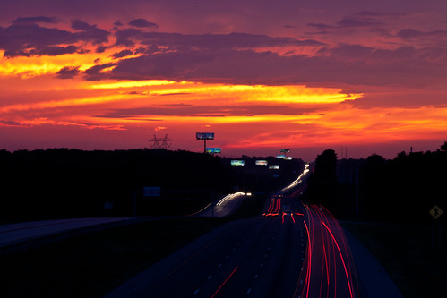 sunset night georgia skyscape lights highway traffic i75 bolingbroke spetacular rumbleroad