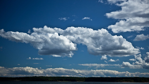 Clouds over Jordan Lake | by dave.steinberg