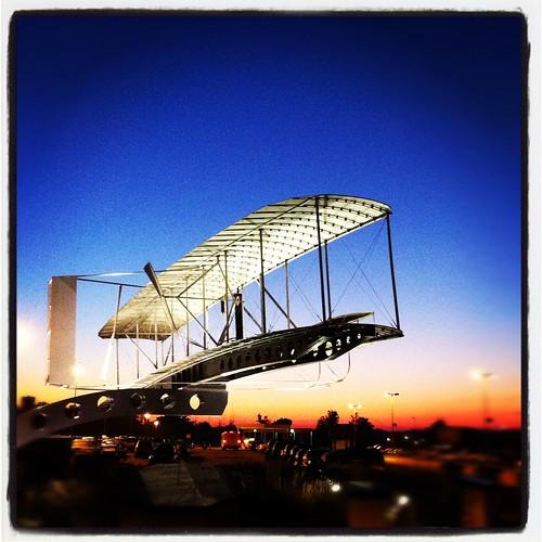 travel ohio sky sunrise square airplane airport cleveland historic akron iphone cak instagram