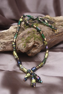 Friendly Plastic and beaded necklace