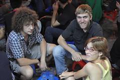 Tim (el del mig), americà que viu a Hanoi contactat a través del CouchSurfing