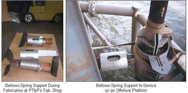 A Custom Spring Support Was Designed Using A Metal Bellows Instead Of A Spring Coil