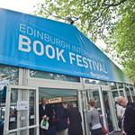 Book Festival entrance   Busy Book Festival entrance
