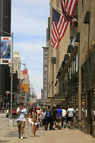 Radio City Sidewalk, New York   by Alex E. Proimos