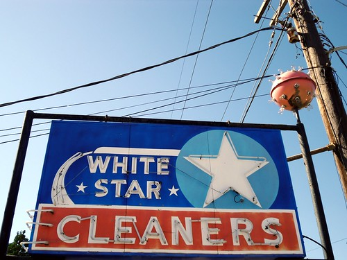 white signs star neon cleaners sputnik houma
