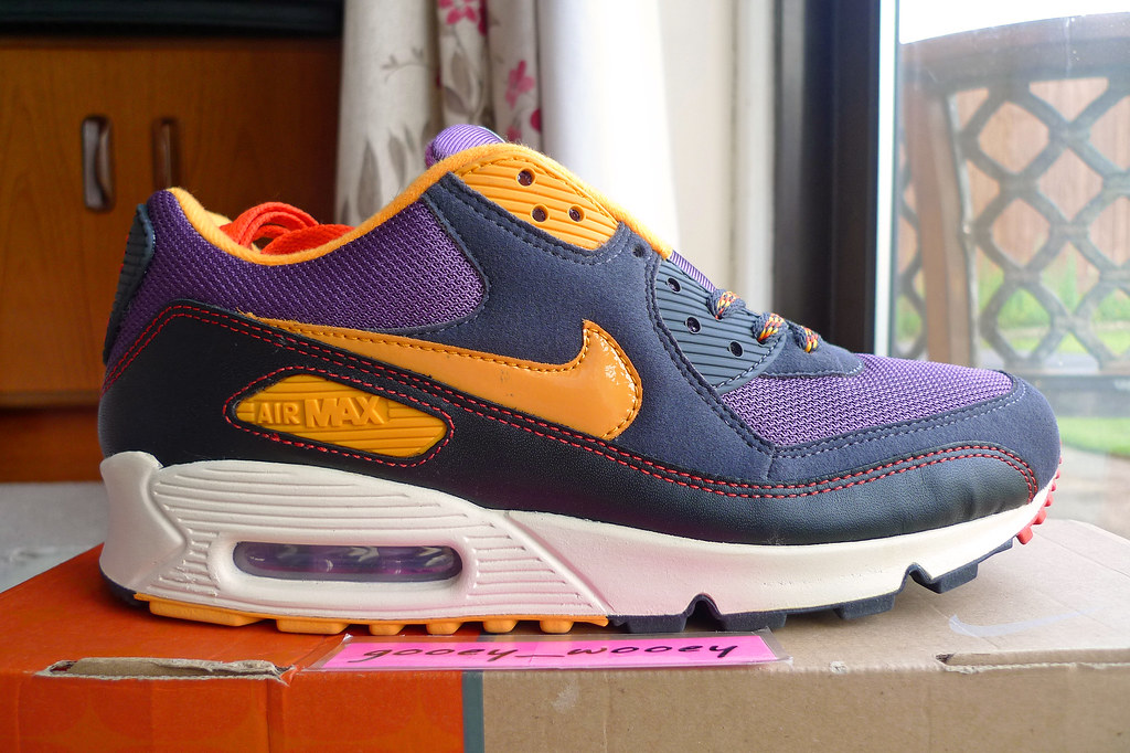 factory outlet huge selection of new high Nike Air Max 90 'BRS' Vintage Purple / Industrial Orange ...